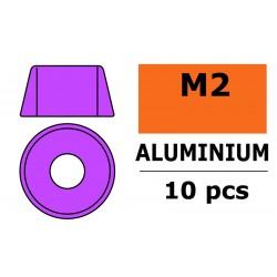 GF-0406-012 Rondelles aluminium - pour vis M2 à tête cylindrique - Ø6mm - Violet - 10 pcs