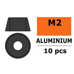 GF-0406-013 Rondelles aluminium - pour vis M2 à tête cylindrique - Ø6mm - Gun Metal - 10 pcs