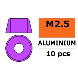 GF-0406-022 Rondelles aluminium - pour vis M2.5 à tête cylindrique - Ø7mm - Violet - 10 pcs