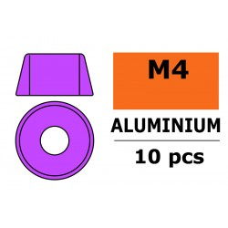 GF-0406-042 Rondelles aluminium - pour vis M4 à tête cylindrique - Ø10mm - Violet - 10 pcs