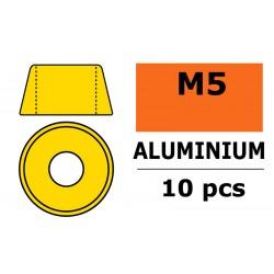GF-0406-050 Rondelles aluminium - pour vis M5 à tête cylindrique - Ø12mm - Or - 10 pcs