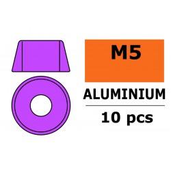 GF-0406-052 Rondelles aluminium - pour vis M5 à tête cylindrique - Ø12mm - Violet - 10 pcs