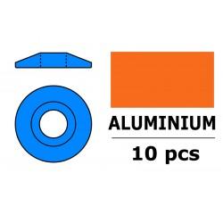 GF-0407-034 Rondelles aluminium - pour vis M3 à tête bombée – Ø 15mm - Bleu - 10 pcs