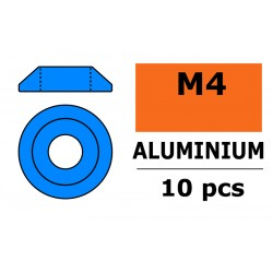 GF-0407-044 Rondelles aluminium - pour vis M4 à tête bombée - Ø 12mm - Bleu - 10 pcs
