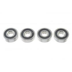 GF-0500-008 Roulement à billes - acier chromée - ABEC 3 - Flasque caoutchouc - 5X13X4 - 695-2RS - 4 pcs