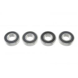 GF-0500-020 Roulement à billes - acier chromée - ABEC 3 - Flasque caoutchouc - 10X22X6 - 6900-2RS - 4 pcs