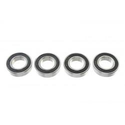 GF-0500-027 Roulement à billes - acier chromée - ABEC 3 - Flasque caoutchouc - 15X28X7 - 6902-2RS - 4 pcs