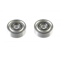 GF-0550-004 Roulement à billes - acier chromée - ABEC 3 - Flasque métal - 2X6X2,3 - MR62ZZ/W23 - 2 pcs