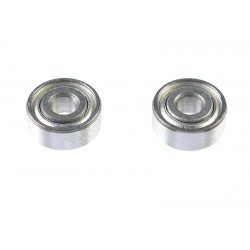 GF-0550-005 Roulement à billes - acier chromée - ABEC 3 - Flasque métal - 2X6X2,5 - MR62ZZ - 2 pcs