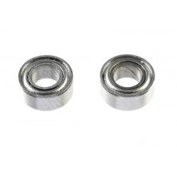 GF-0550-008 Roulement à billes - acier chromée - ABEC 3 - Flasque métal - 3X6X2,5 - MR63ZZ - 2 pcs