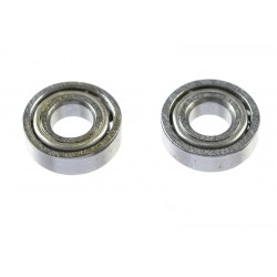 GF-0550-009 Roulement à billes - acier chromée - ABEC 3 - Flasque métal - 3X7X2 - MR683 - 2 pcs