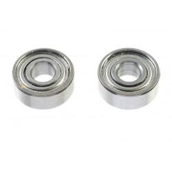 GF-0550-011 Roulement à billes - acier chromée - ABEC 3 - Flasque métal - 3X8X3 - MR83ZZ - 2 pcs