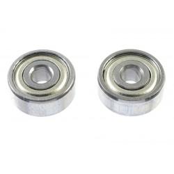 GF-0550-013 Roulement à billes - acier chromée - ABEC 3 - Flasque métal - 3X10X4 - MR103ZZ - 2 pcs