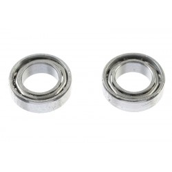 GF-0550-014 Roulement à billes - acier chromée - ABEC 3 - Flasque métal - 4X7X2 - MR74 - 2 pcs