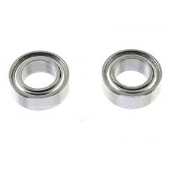 GF-0550-015 Roulement à billes - acier chromée - ABEC 3 - Flasque métal - 4X7X2,5 - MR74ZZ - 2 pcs