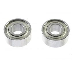 GF-0550-017 Roulement à billes - acier chromée - ABEC 3 - Flasque métal - 4X9X4 - MR684ZZ - 2 pcs