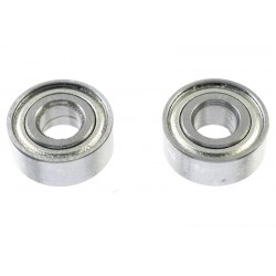 GF-0550-018 Roulement à billes - acier chromée - ABEC 3 - Flasque métal - 4X10X4 - MR104ZZ - 2 pcs