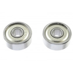 GF-0550-020 Roulement à billes - acier chromée - ABEC 3 - Flasque métal - 4X13X5 - MR624ZZ - 2 pcs