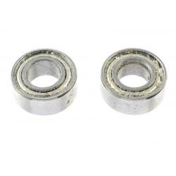 GF-0550-023 Roulement à billes - acier chromée - ABEC 3 - Flasque métal - 5X10X4 - MR105ZZ - 2 pcs