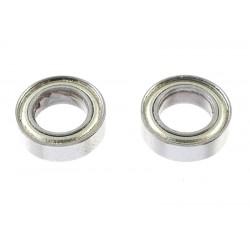 GF-0550-025 Roulement à billes - acier chromée - ABEC 3 - Flasque métal - 6X10X3 - MR106 - 2 pcs