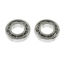GF-0550-026 Roulement à billes - acier chromée - ABEC 3 - Flasque métal - 6X12X3 - MR126 - 2 pcs