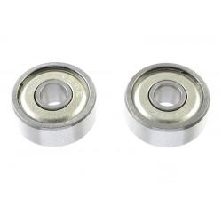 GF-0550-028 Roulement à billes - acier chromée - ABEC 3 - Flasque métal - 8X14X4 - MR148ZZ - 2 pcs