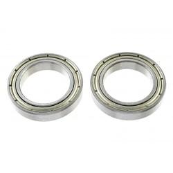 GF-0550-032 Roulement à billes - acier chromée - ABEC 3 - Flasque métal - 17X26X5 - MR6803ZZ - 2 pcs