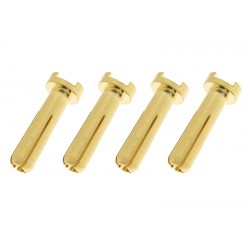 GF-1000-013 Connecteur - 4.0mm - Contact or 90 Deg - Male - 4 pcs