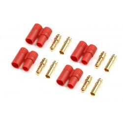 GF-1001-002 Connecteur - 3.5mm - Contact or avec fiche plastique - 4 pcs