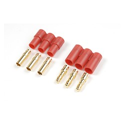 GF-1002-001 Connecteur - 3.5mm - Contact or - 3pins - Male + Femelle - 1 pair