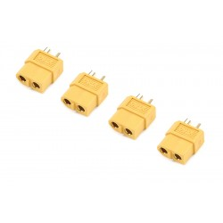 GF-1003-002 Connecteur - XT-60 - Contact or - Male - 4 pcs