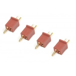 GF-1005-001 Connecteur - Mini Deans - Contact or - 4 pcs
