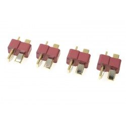 GF-1006-002 Connecteur - Deans - Contact or - Male - 4 pcs