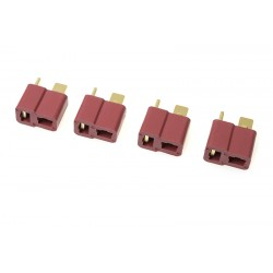 GF-1006-003 Connecteur - Deans - Contact or - Femelle - 4 pcs