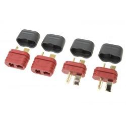 GF-1006-010 Connecteur - Deans - Contact or - avec capuchon - Male + Femelle - 2 paires
