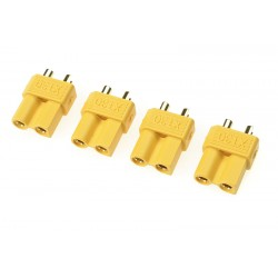 GF-1030-002 Connecteur - XT-30 - Contact or - Male - 4 pcs