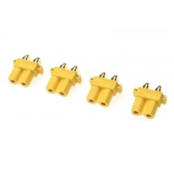 GF-1031-002 Connecteur - XT-30PW - Contact or - Male - 4 pcs