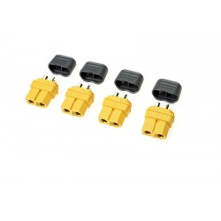 GF-1040-002 Connecteur - XT-60 - avec capuchon - Contact or - Male - 4 pcs