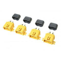 GF-1041-002 Connecteur - XT-60L - avec capuchon - Contact or - Male - 4 pcs