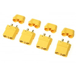 GF-1053-002 Connecteur - XT-90H - avec capuchon - Contact or - Male - 4 pcs