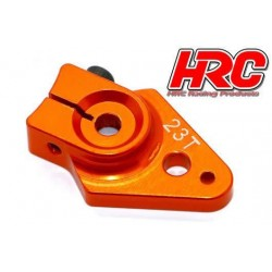 HRC41251-25 Palonier de servo - Spécial Avion - Type Aluminium Clamp - 25mm Long - Simple - 23D (Sanwa / Ko Propo / JR)