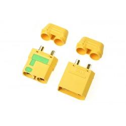 GF-1054-001 Connecteur - XT-90S - Anti Spark - avec capuchon - Contact or - Male + Femelle - 1 pair
