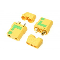 GF-1054-002 Connecteur - XT-90S - Anti Spark - avec capuchon - Contact or - Male - 2 pcs