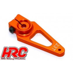 HRC41251-40 Palonier de servo – Spécial Avion - Type Aluminium Clamp - 40mm Long - Simple - 23D (Sanwa / Ko Propo / JR)
