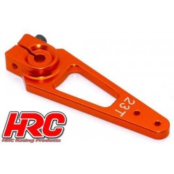 HRC41251-50 Palonier de servo – Spécial Avion - Type Aluminium Clamp - 50mm Long - Simple - 23D (Sanwa / Ko Propo / JR)