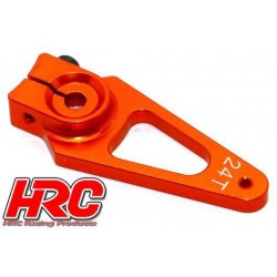 HRC41252-40 Palonier de servo – Spécial Avion - Type Aluminium Clamp - 40mm Long - Simple - 24D (Hitec)