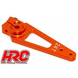 HRC41252-50 Palonier de servo – Spécial Avion - Type Aluminium Clamp - 50mm Long - Simple - 24D (Hitec)