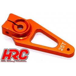 HRC41253-40 Palonier de servo - Type Aluminium Clamp - 40mm Long - Simple - 25D (Futaba / Sâvox / Power HD / Orion)