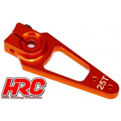 HRC41253-45 Palonier de servo - Type Aluminium Clamp - 45mm Long - Simple - 25D (Futaba / Sâvox / Power HD / Orion)