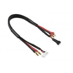 GF-1202-070 Cordon de charge/équilibreur - Deans 2S - Conn. chargeur 6S XH - 2S XH Conn. - 14AWG cble silicone - 30cm - 1pc